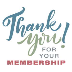 Picture thanking our members for being a member.