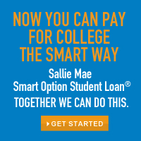 Sallie Mae Smart Student Loan Options.  Click the image.